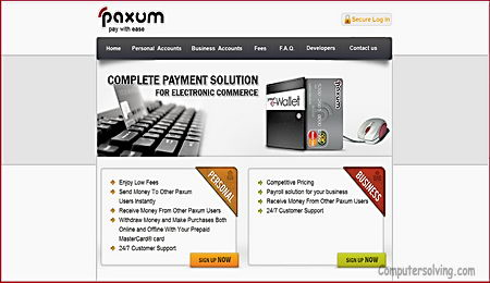 How can I open a Paxum account?