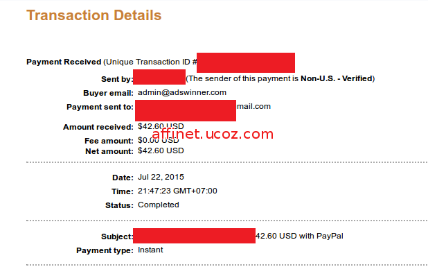 adclx payment proof