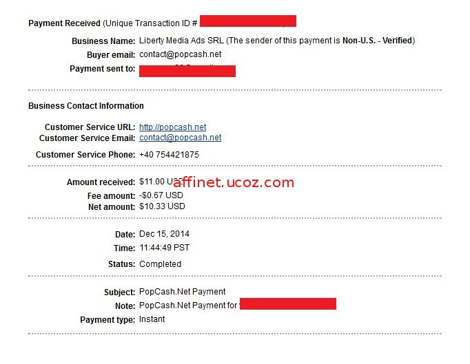 popcash my first payment proof
